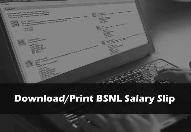Download or Print BSNL Salary Slip Online at eportal.erp.bsnl.co.in