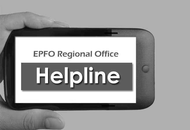 EPFO Regional Office Helpline Number in All India