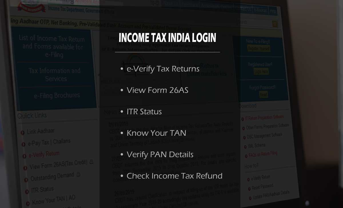 Login to Income Tax eFiling India at incometaxindiaefiling.gov.in