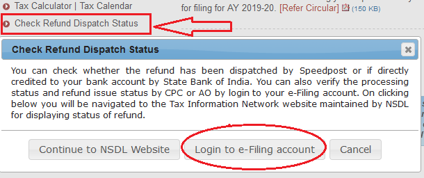 Click Income Tax Refund Status