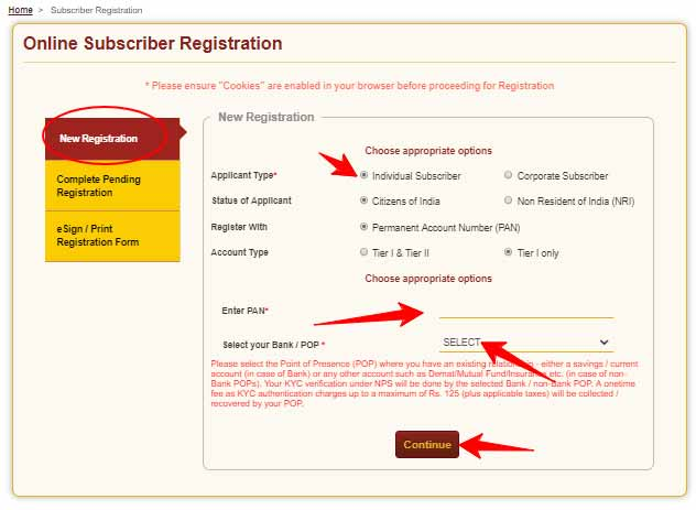 Create NPS Account Online at enps.nsdl.com as New Registration