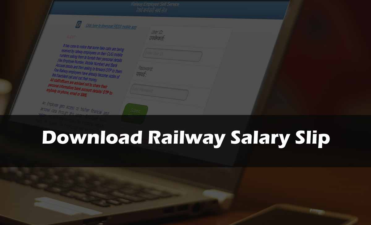 Download Railway Salary Slip Online