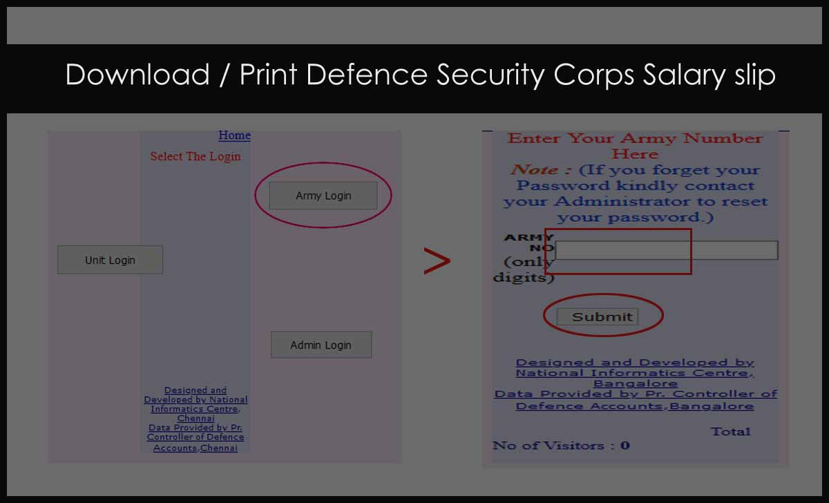 DSC Pay Slip Download for all Defence Security Corps
