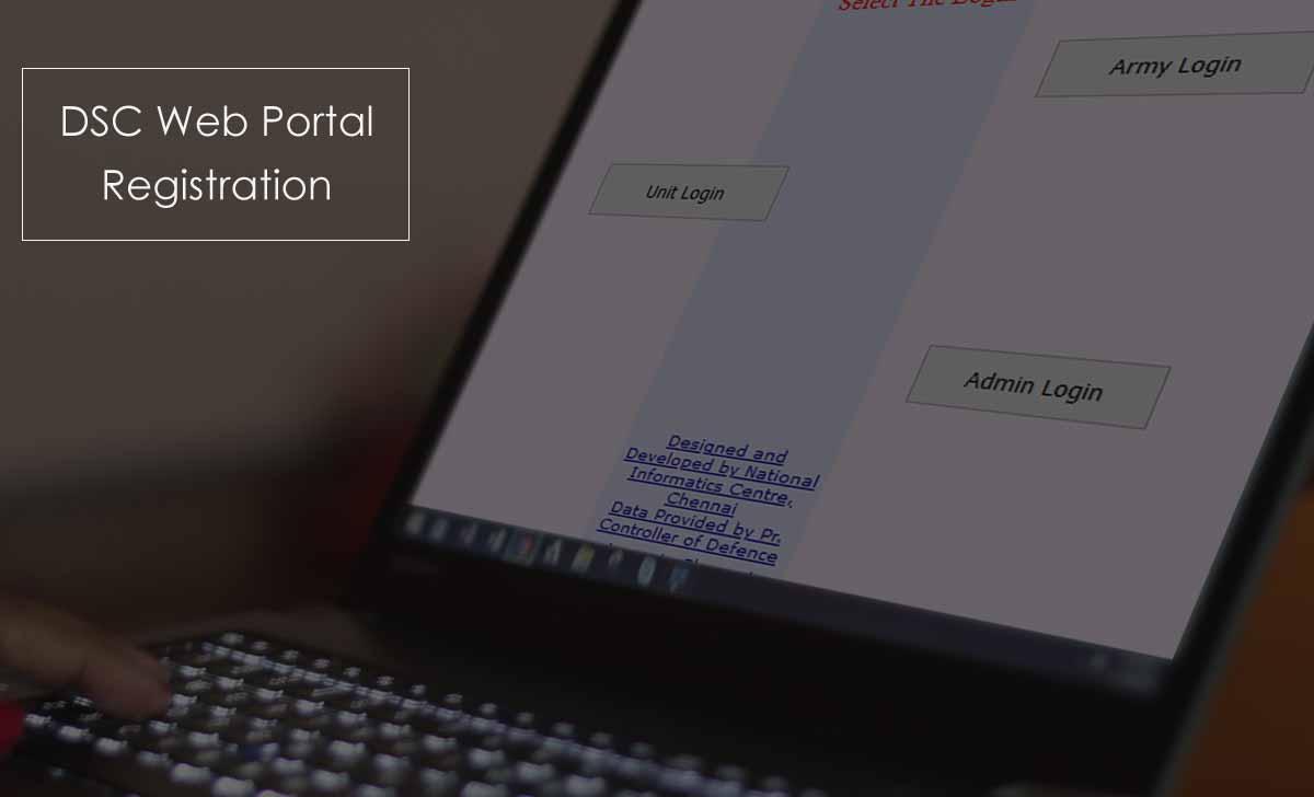 DSC (Defence Security Corps) Online Login Portal Registration