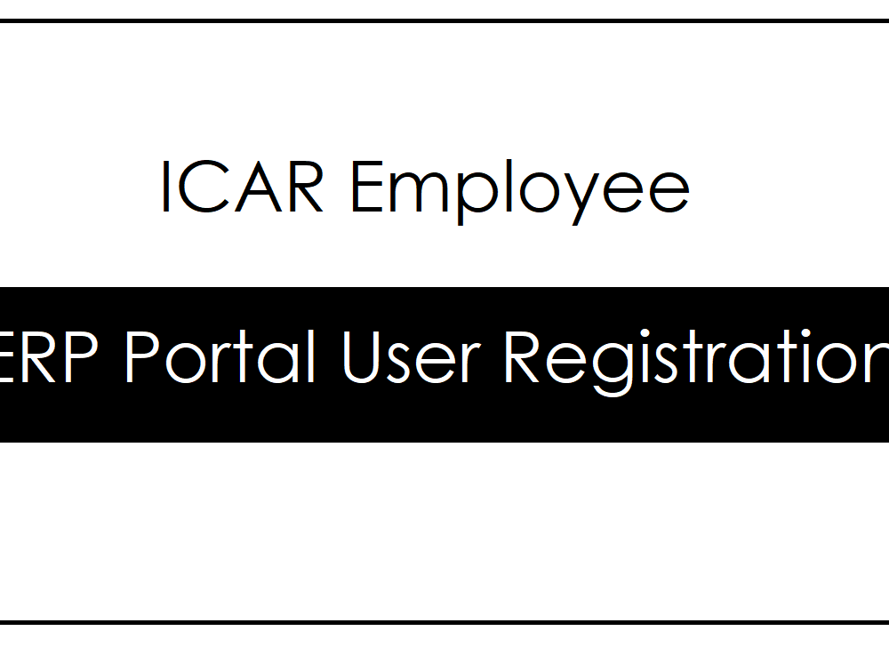 Register ICAR ERP to access FMS – MIS Login Services