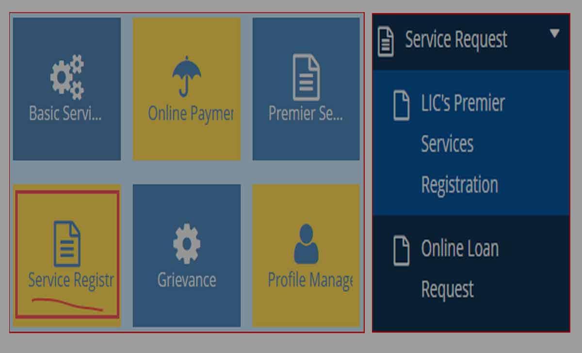 LIC Premier Services Registration