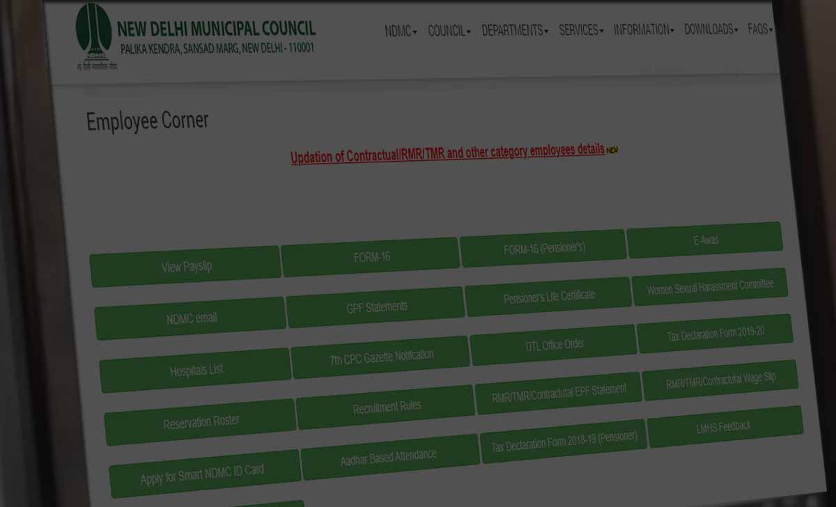 NDMC Login Registration to Access Employee Corner