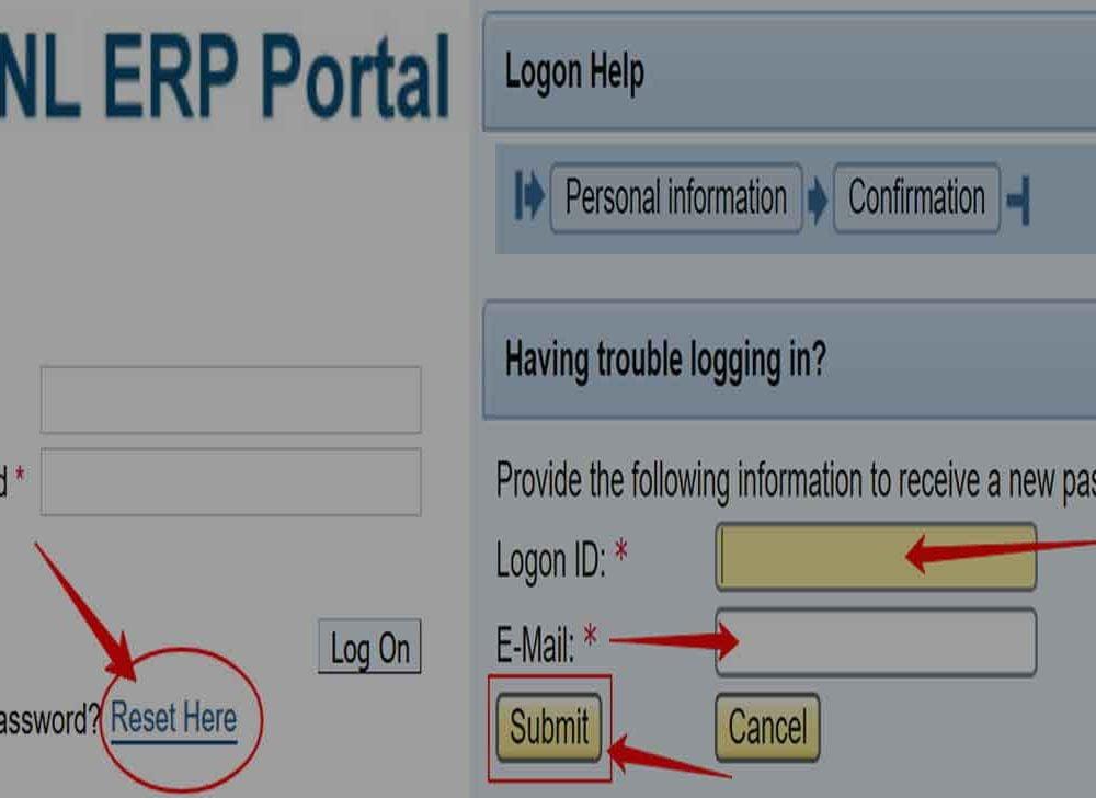 Reset BSNL ERP Login Password Online at eportal.erp.bsnl.co.in