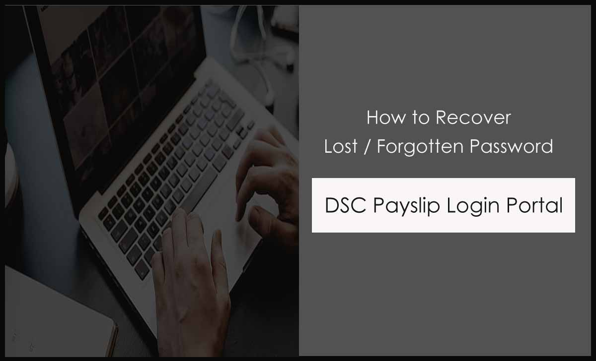 Reset DSC Payslip Forgot Password for Login Web Portal