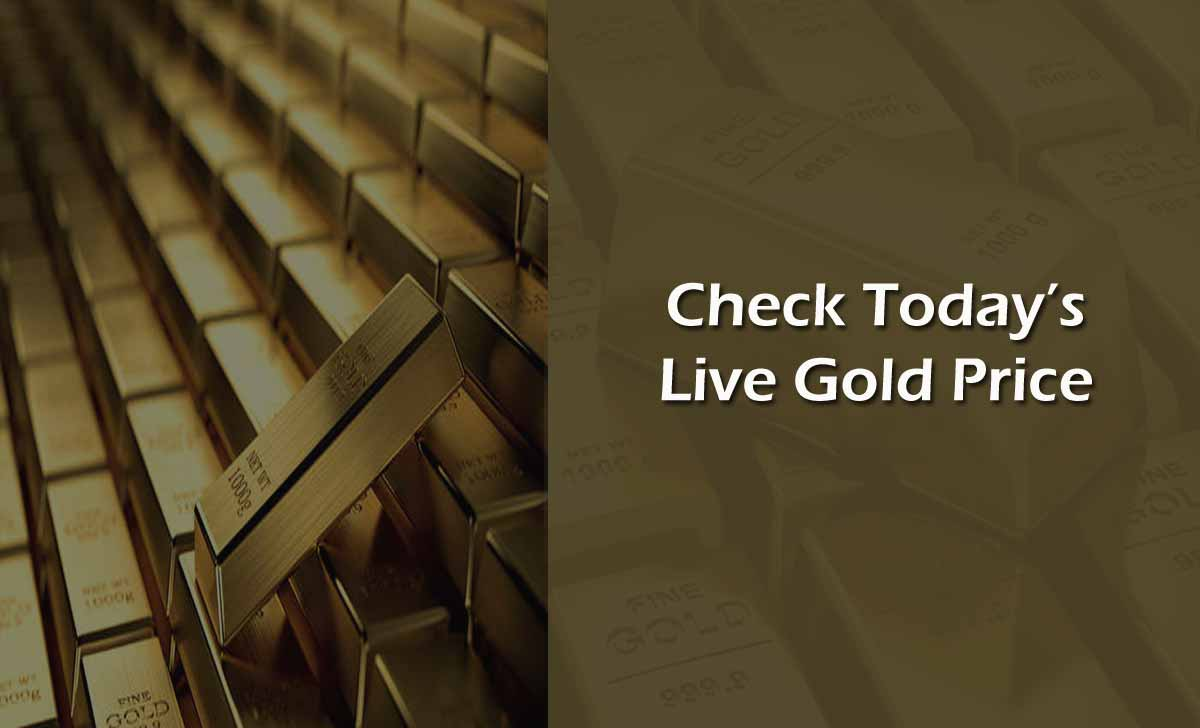 Today Gold Rate Live Update in India Per Gram Price