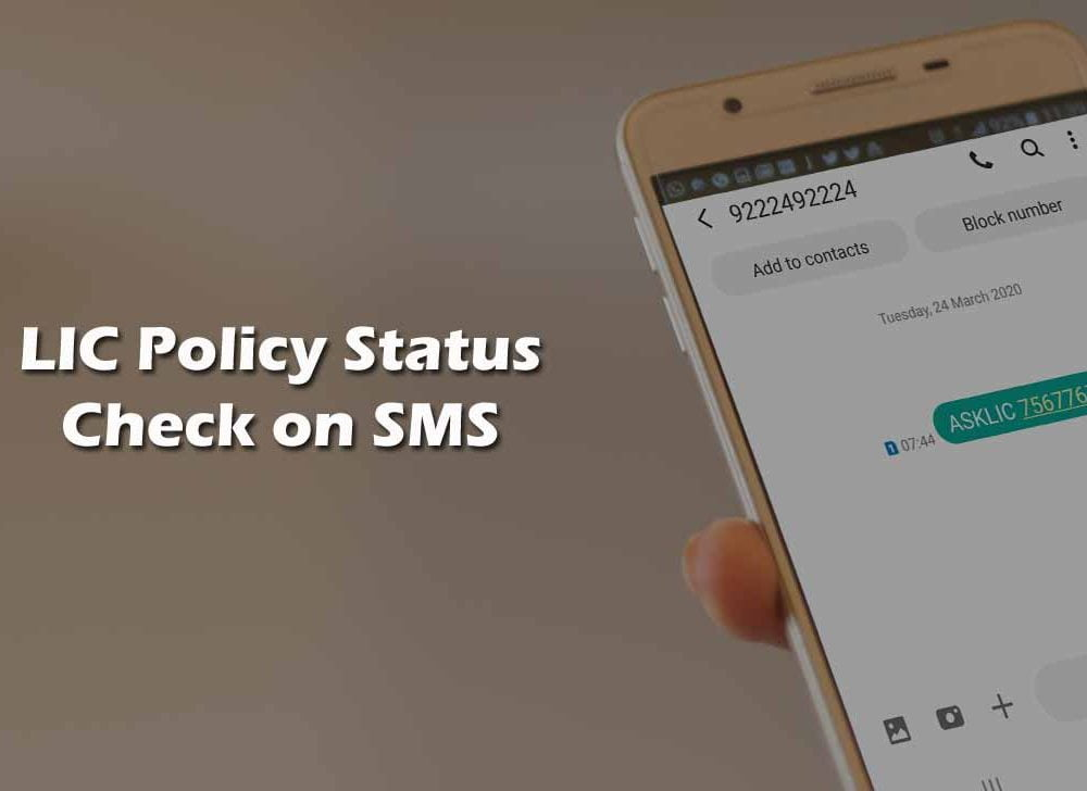 Check LIC Policy Status through SMS without Registration