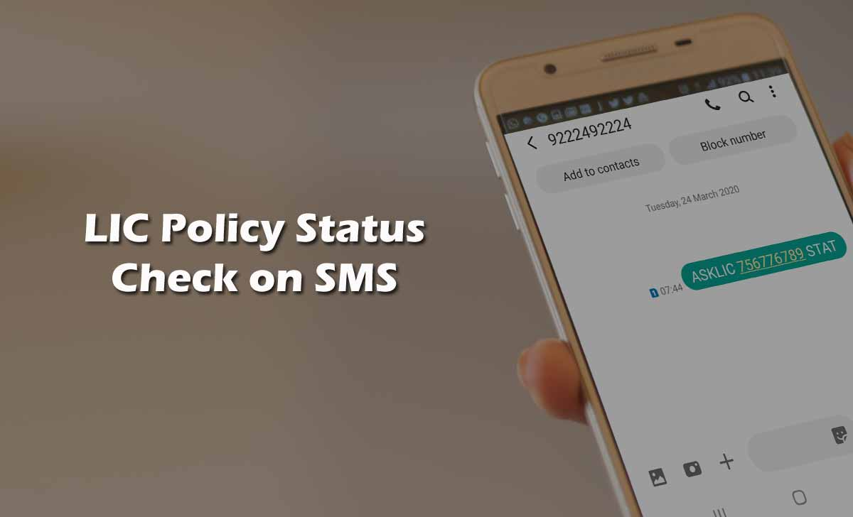 Check LIC Policy Status through SMS