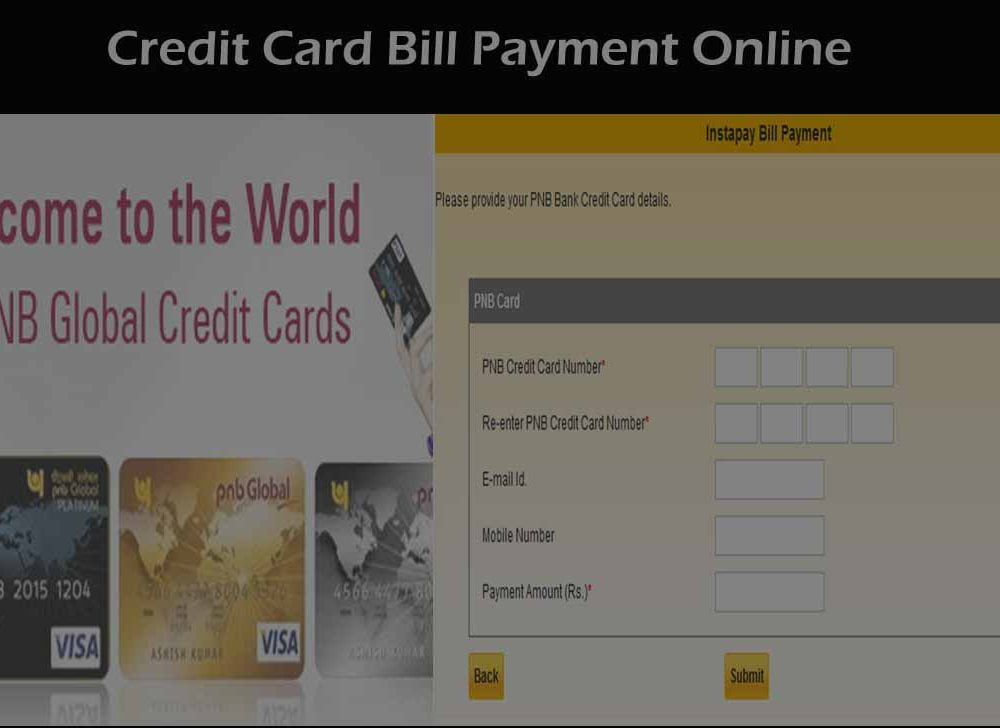 PNB Credit Card Payment Online using billdesk or pnbcard.in