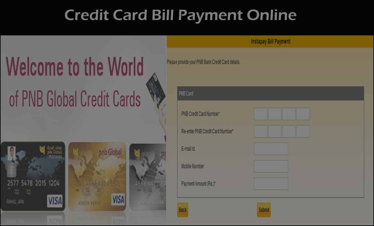 PNB Credit Bill Payment in Online