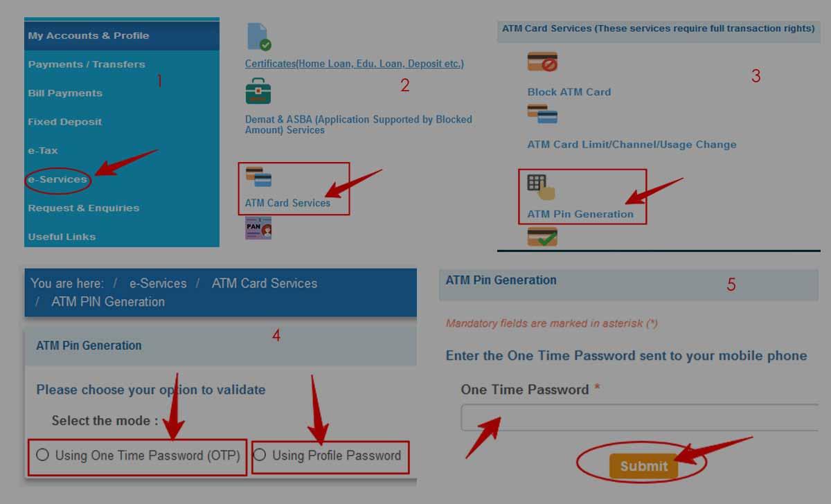 SBI ATM PIN Generation / Change Online Process