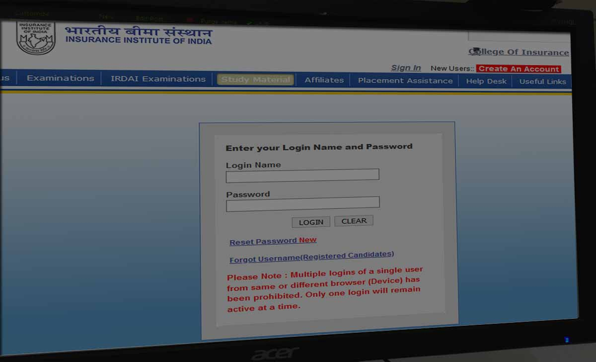 Insurance Institute Registration & Login