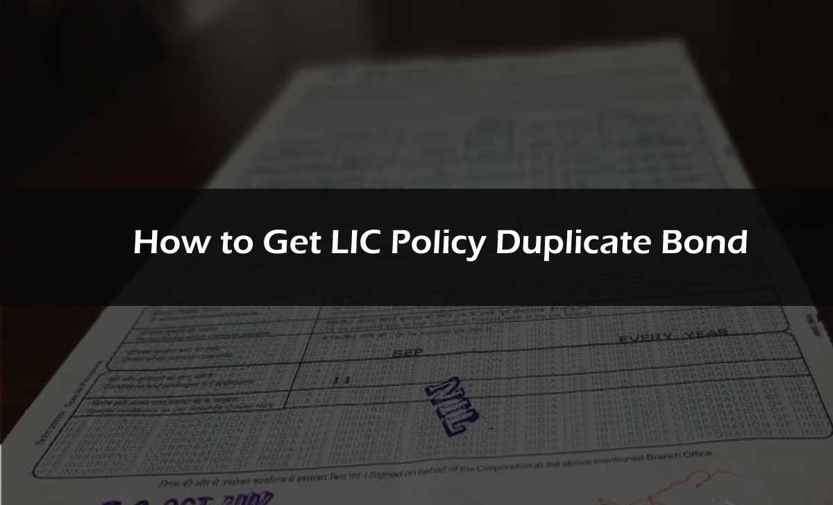 LIC Policy Duplicate Bond
