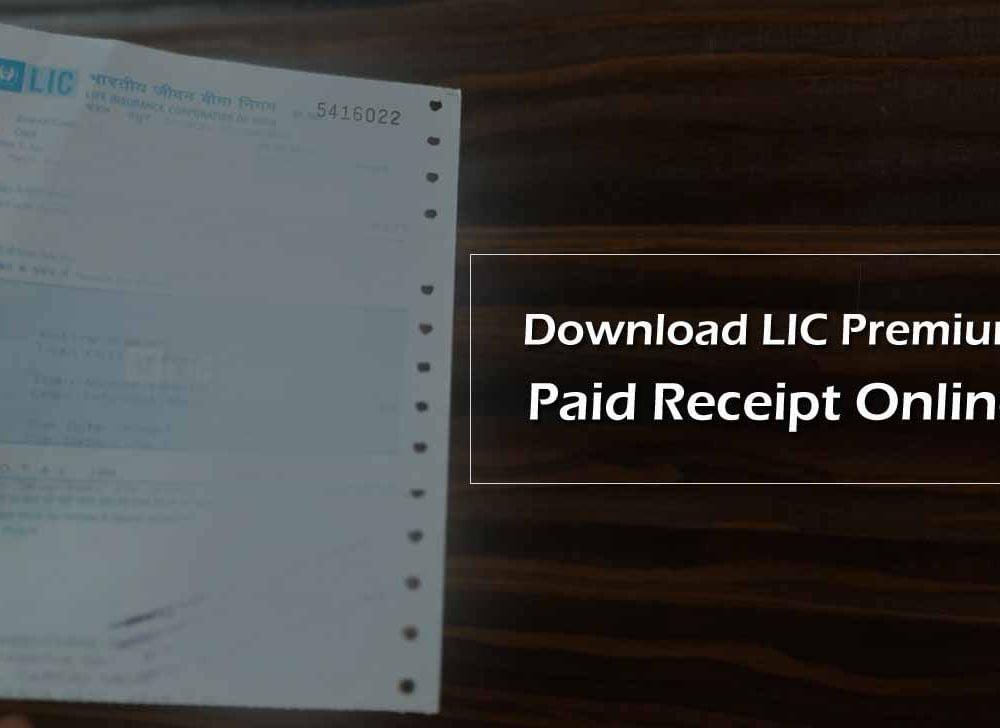 Download LIC Premium Paid Receipt Online at ebiz.licindia.in