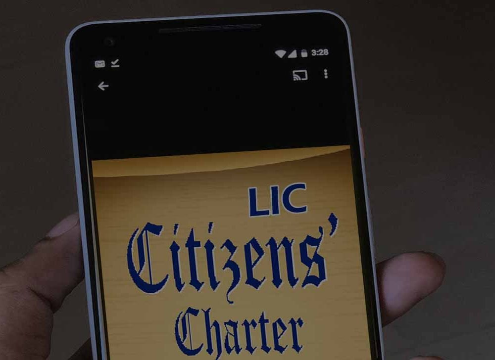 LIC Timeline – New Citizen Charter on Insurance Policy Servicing