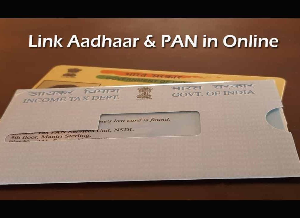 Link PAN & Aadhaar in Online on Login to Income Tax India