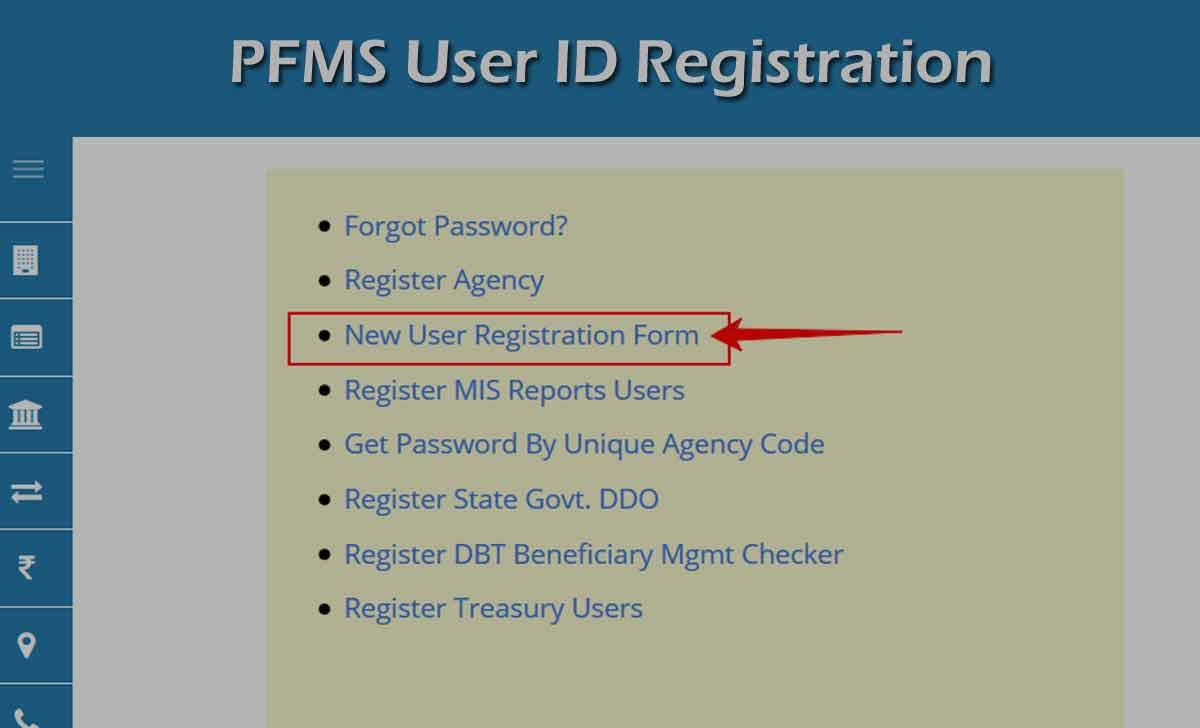 PFMS Login User ID Registration