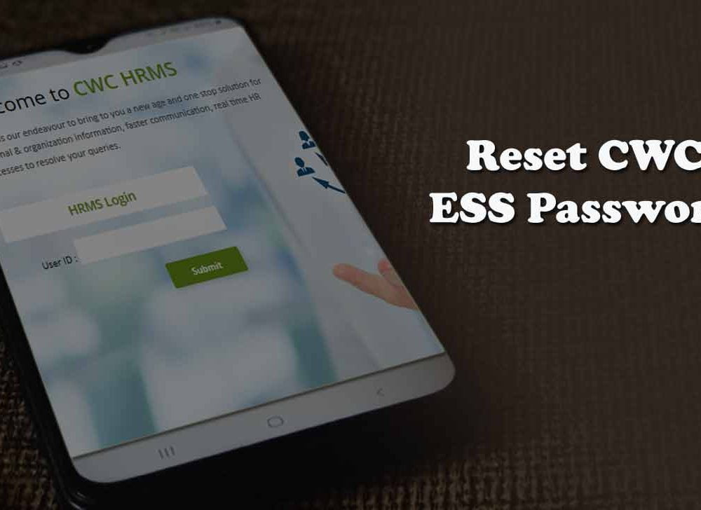 Reset CWC HRMS Login Password for ESS Payroll & CPF Services