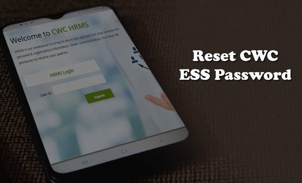 Reset CWC HRMS Login Password