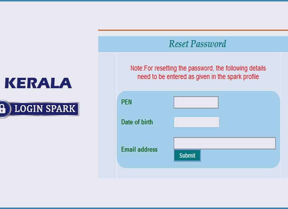 Reset Forgot Password for Kerala Spark Employee Login