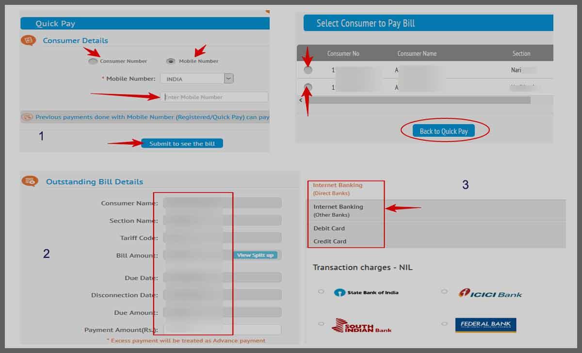 KSEB Online Bill Payment Process