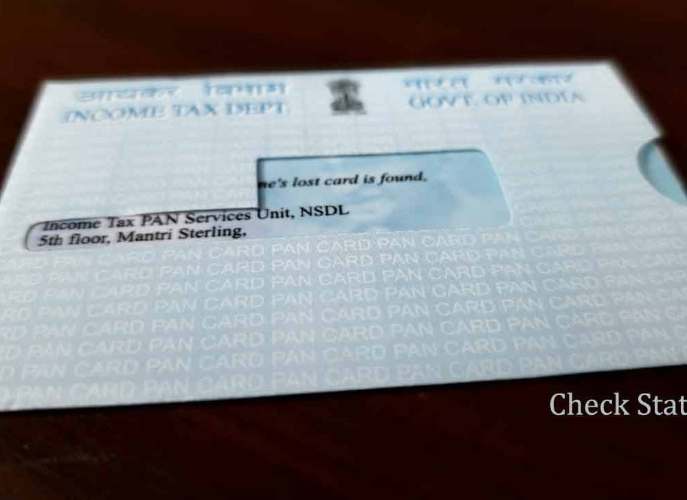 PAN Card Status Check using Voice Call, SMS or Online