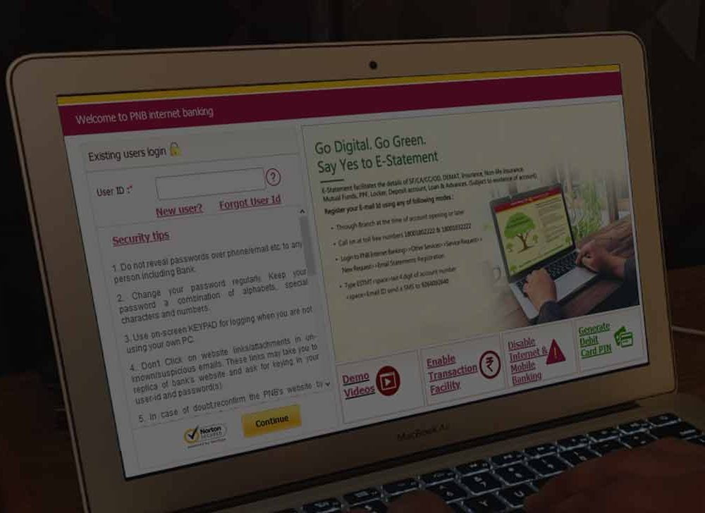 PNB Net Banking to Access Punjab National Bank Online Services