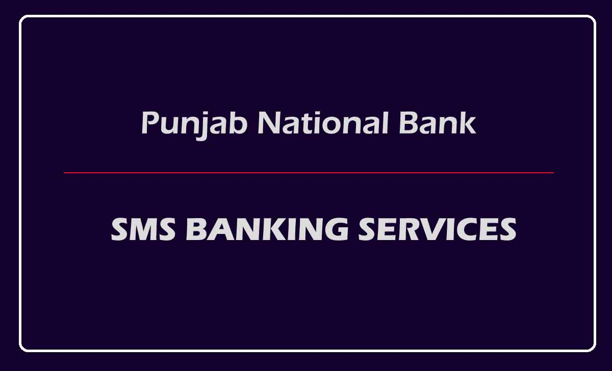 PNB SMS Banking Service Codes