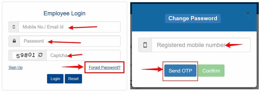 Reset FinAssam Employee Login Password