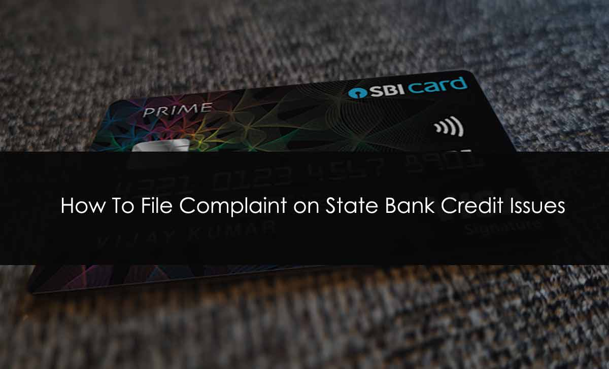 SBI Credit card Complaint
