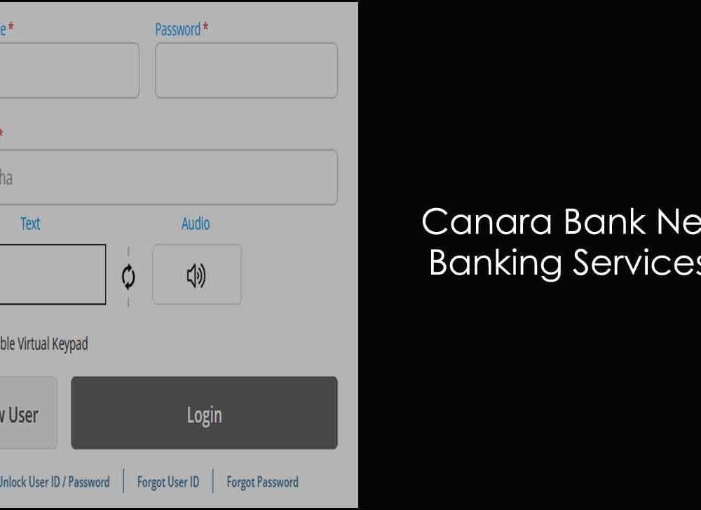Canara Bank Net Banking Login & New User Registration