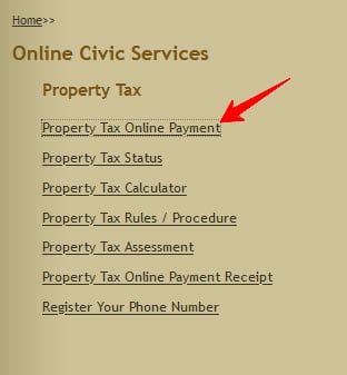 Chennai Corporation Property Tax Online Payment