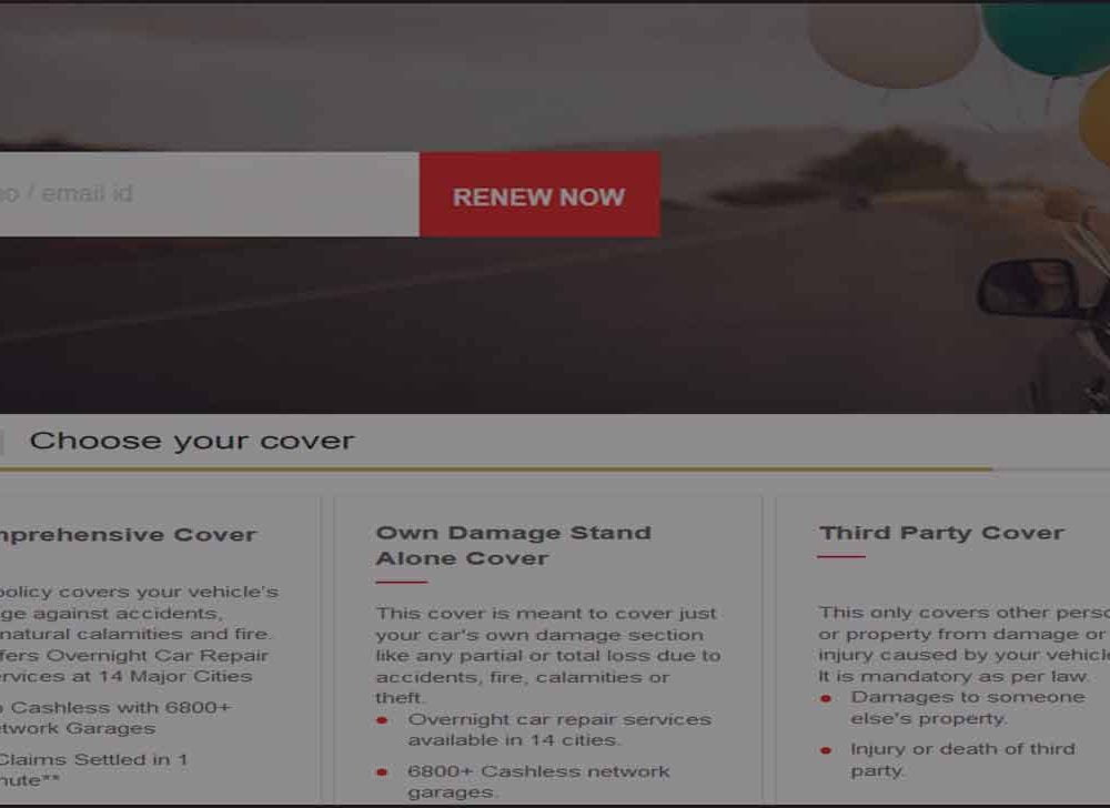 HDFC Ergo Car Insurance Renewal Online in 3 Steps