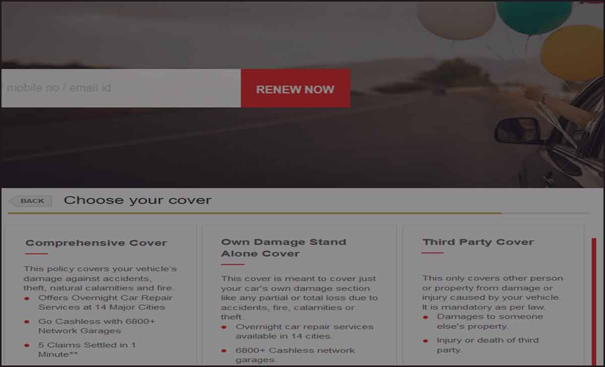 HDFC Car Insurance Renewal Online