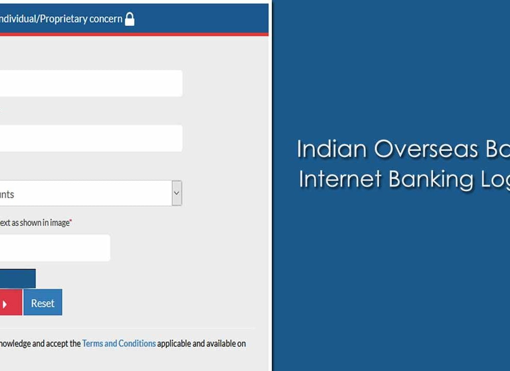 IOB Net Banking Login Online for Individual / Proprietary