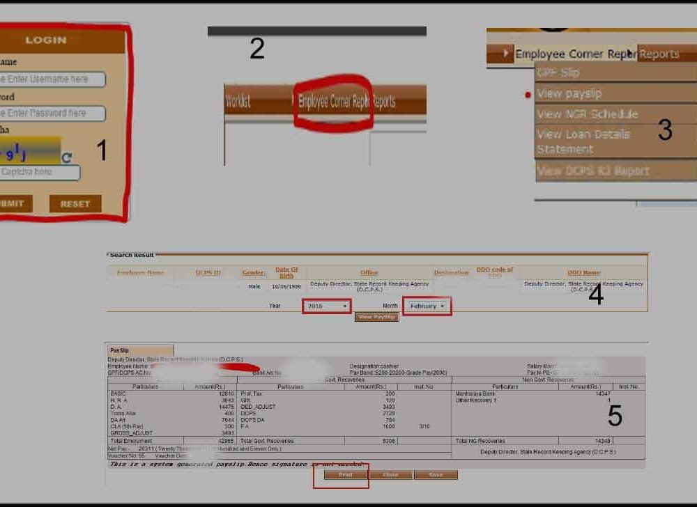 Maharashtra Employee Salary Slip Download at Sevaarth Login