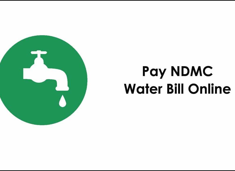 NDMC Water Bill Payment Online at ndmc.gov.in portal