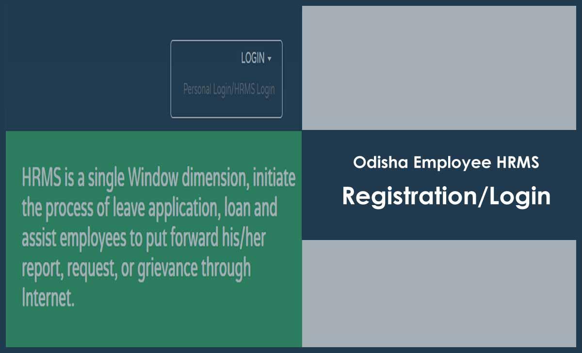 Odisha HRMS Portal Login and Registration