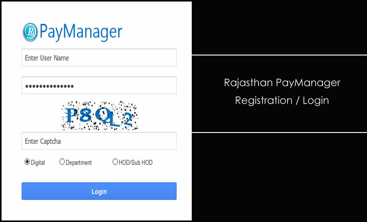 Rajasthan PayManager Login