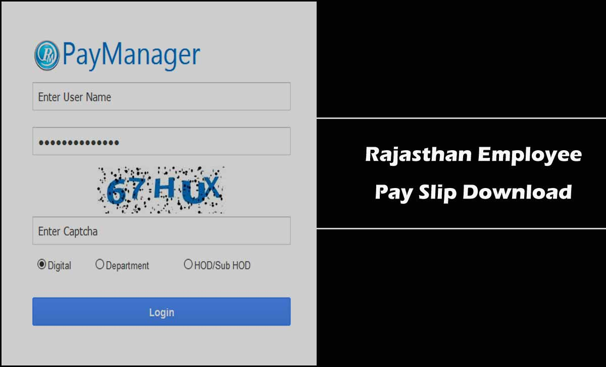 Rajasthan Salary Slip Download