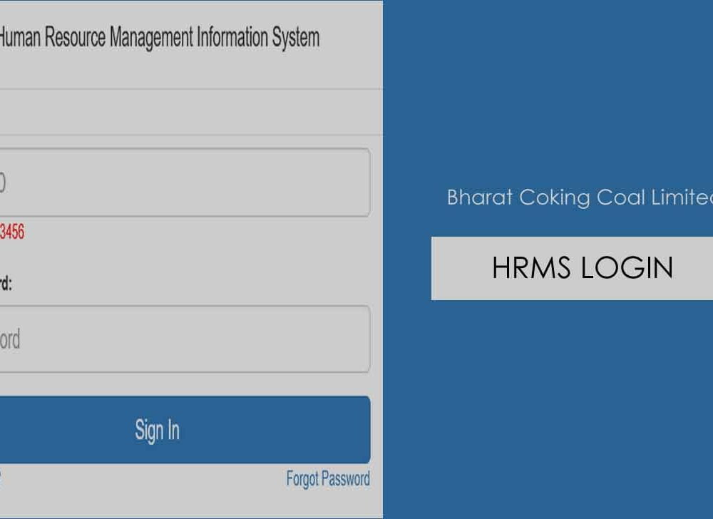 BCCL HRMS Employee Portal Login & Registration