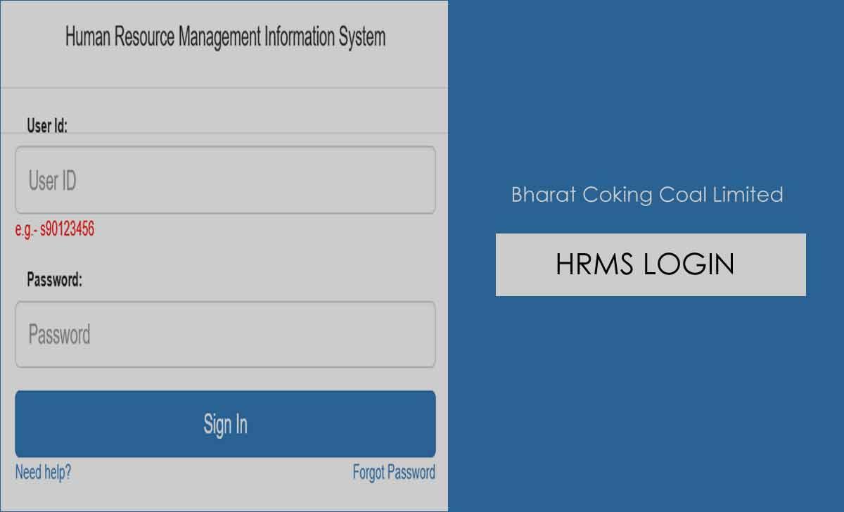 BCCL HRMS Login