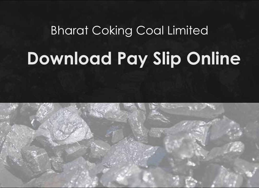 BCCL Pay Slip Download Online for August 2020 Salary