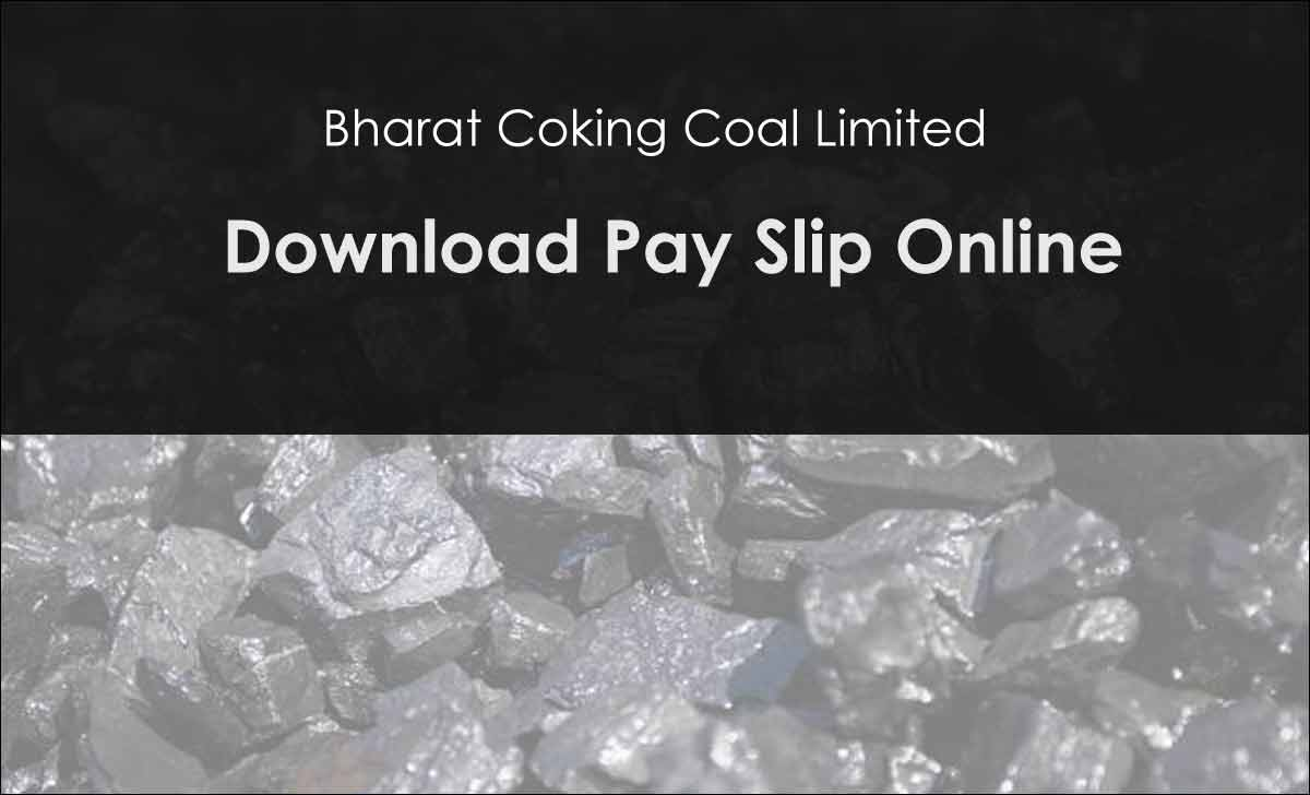 BCCL Pay Slip Download