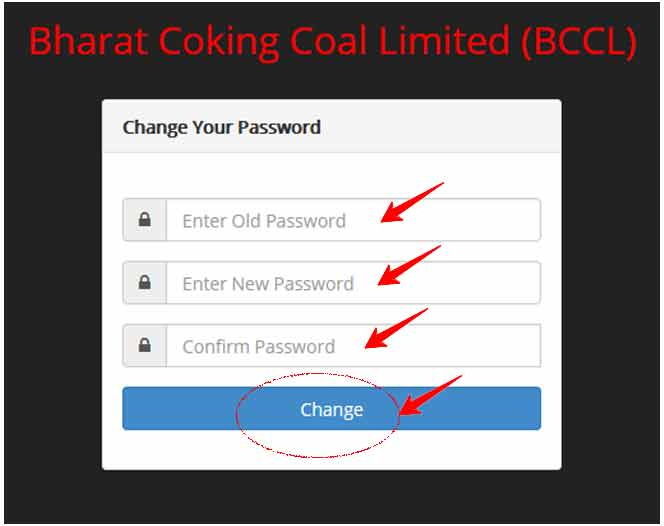 Change BCCL Payslip Password Online without Employee ID