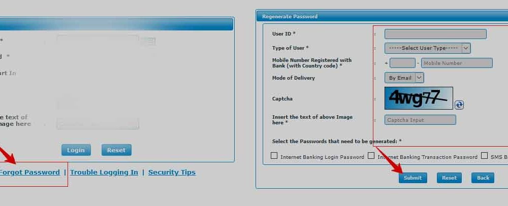 Reset BOM Net Banking Forgot Password to Unlock IB